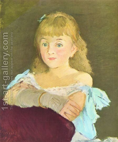 Portrait of Lina Campineanu by Edouard Manet - Reproduction Oil Painting