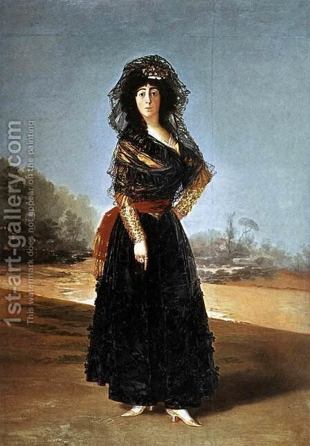 Portrait of the Duchess of Alba by Goya - Reproduction Oil Painting