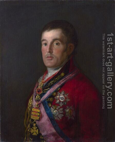 Portrait of the Duke of Wellington by Goya - Reproduction Oil Painting