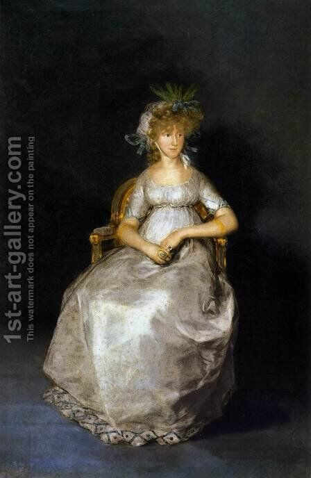 The Countess of Chinchón 2 by Goya - Reproduction Oil Painting
