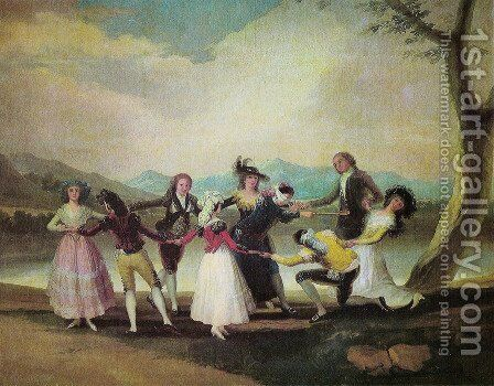 The goose blind by Goya - Reproduction Oil Painting