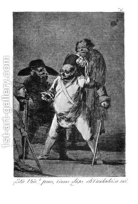 Caprichos(76) by Goya - Reproduction Oil Painting