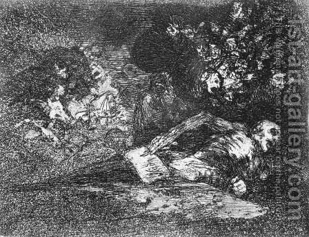 Nothing. The event will tell by Goya - Reproduction Oil Painting