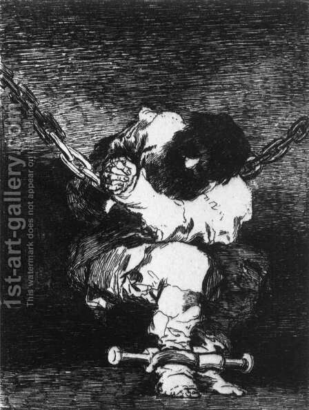 The Captivity is as Barbarous as the Crime by Goya - Reproduction Oil Painting