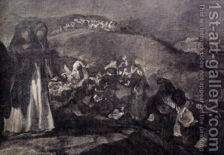 A Pilgrimage to San Isidro (detail 2) by Goya - Reproduction Oil Painting