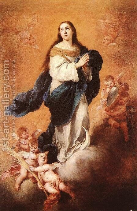 Immaculate Conception1 by Bartolome Esteban Murillo - Reproduction Oil Painting