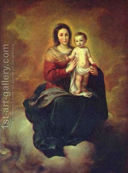 Madonna in the Clouds by Bartolome Esteban Murillo - Reproduction Oil Painting