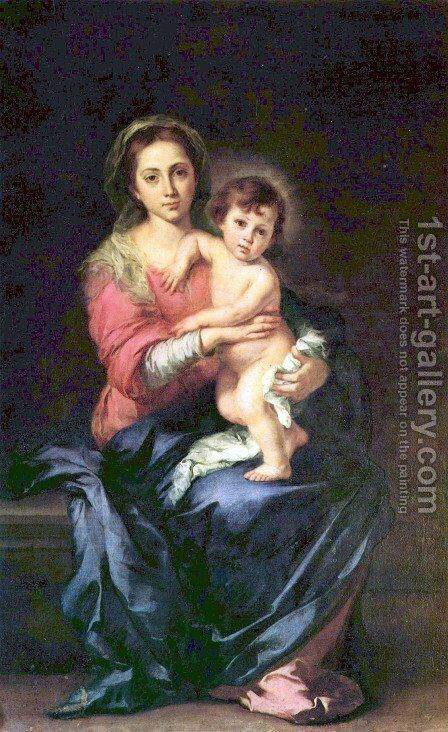 Madonna1 by Bartolome Esteban Murillo - Reproduction Oil Painting