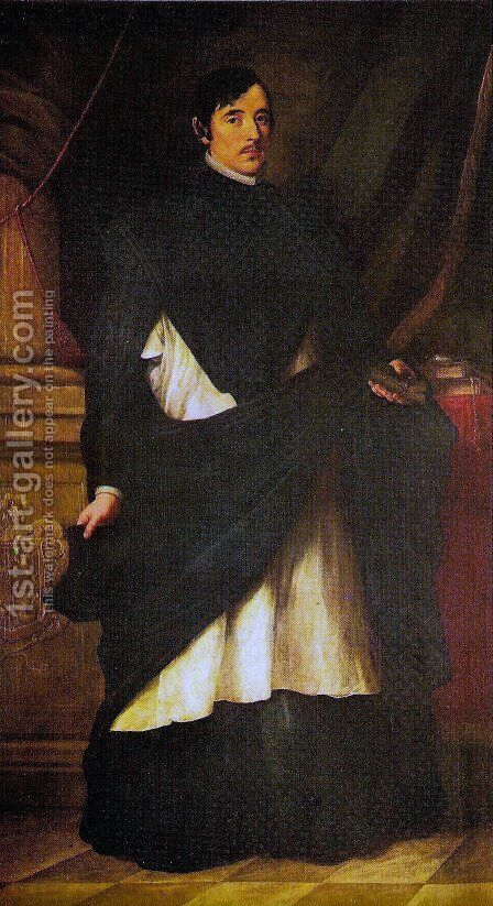 Portrait of Fray Miranda by Bartolome Esteban Murillo - Reproduction Oil Painting