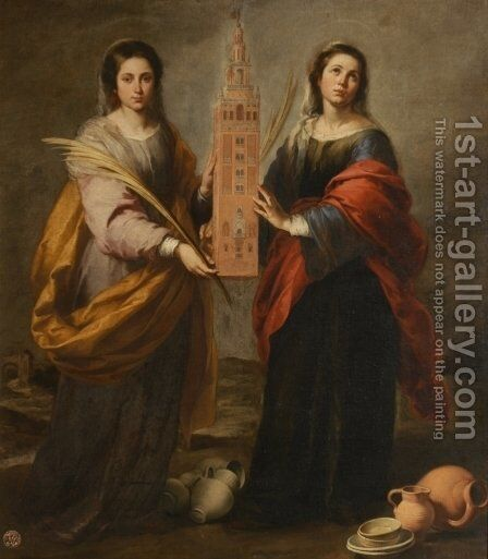 St. Justa and St. Rufina by Bartolome Esteban Murillo - Reproduction Oil Painting