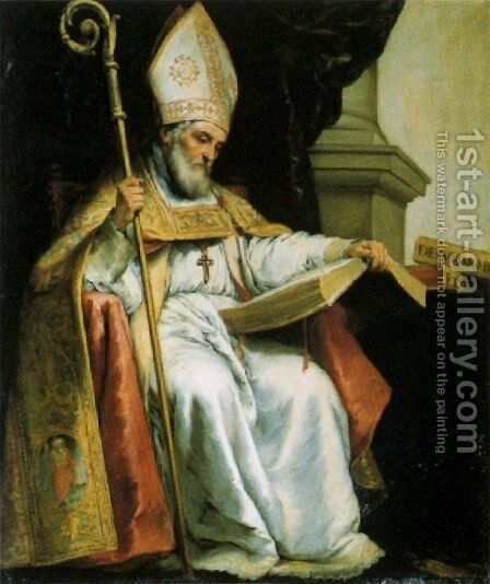 St. Leander by Bartolome Esteban Murillo - Reproduction Oil Painting
