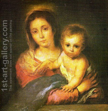 The Virgin of the napkin by Bartolome Esteban Murillo - Reproduction Oil Painting