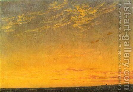 Evening with clouds by Caspar David Friedrich - Reproduction Oil Painting