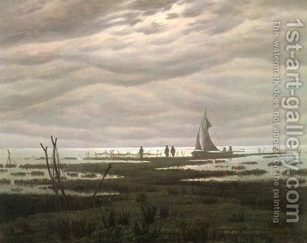 Flat country shank at Greifswalder Bodden by Caspar David Friedrich - Reproduction Oil Painting