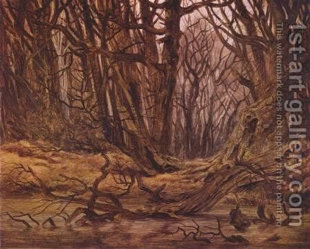 Forest in the late autumn by Caspar David Friedrich - Reproduction Oil Painting