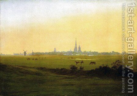 Meadows with grab forest by Caspar David Friedrich - Reproduction Oil Painting