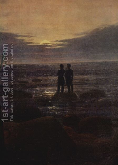 Moonrise by the Sea (detail) by Caspar David Friedrich - Reproduction Oil Painting