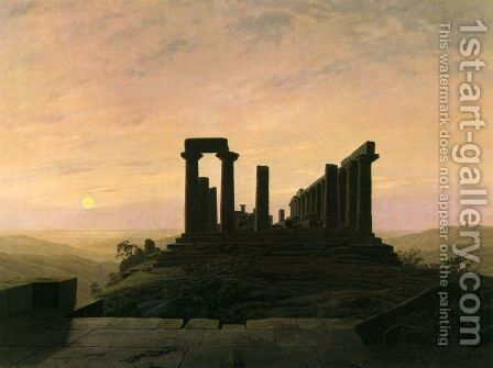 Temple in Agrient by Caspar David Friedrich - Reproduction Oil Painting