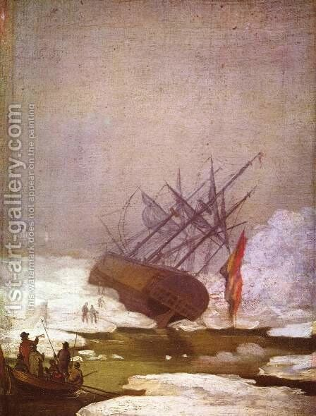 Wreck in the polar sea by Caspar David Friedrich - Reproduction Oil Painting