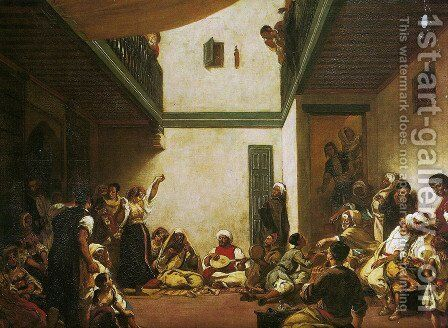 Jewish Wedding in Morocco by Eugene Delacroix - Reproduction Oil Painting