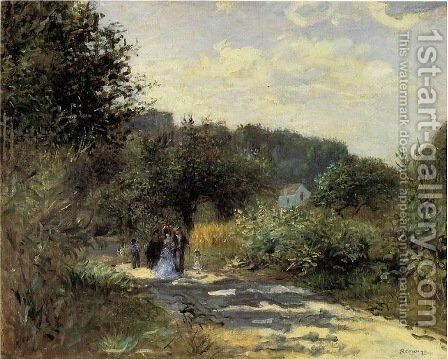 A Road in Louveciennes 2 by Camille Pissarro - Reproduction Oil Painting