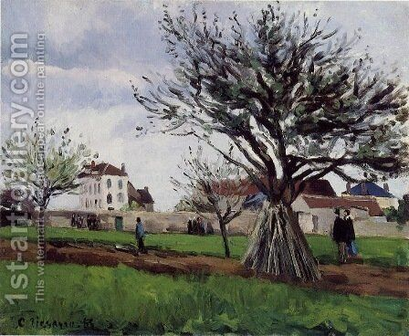 Apple Trees at Pontoise (The Home of Pere Gallien) by Camille Pissarro - Reproduction Oil Painting