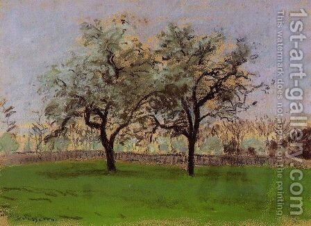 Apple Trees at Pontoise 2 by Camille Pissarro - Reproduction Oil Painting