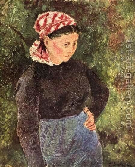 Farmer's wife by Camille Pissarro - Reproduction Oil Painting