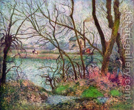Holzfäller by Camille Pissarro - Reproduction Oil Painting