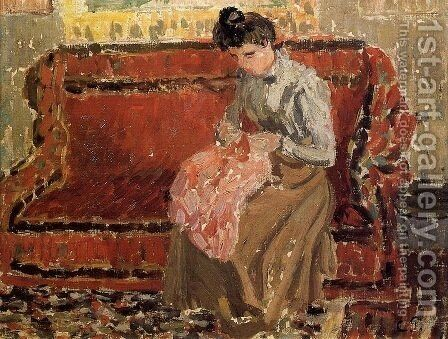 Jeanne Cousant by Camille Pissarro - Reproduction Oil Painting