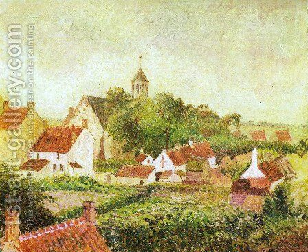 Landscape from my window by Camille Pissarro - Reproduction Oil Painting
