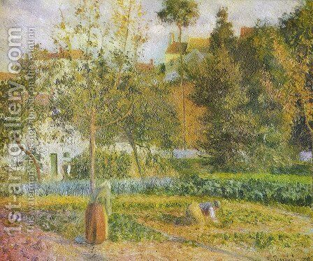 Orchard at L'Hermitage, Pontoise by Camille Pissarro - Reproduction Oil Painting