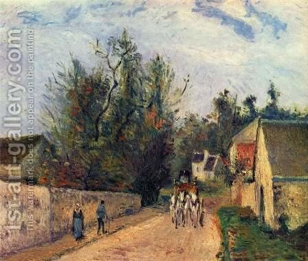 Postkutsche nach Ennery by Camille Pissarro - Reproduction Oil Painting