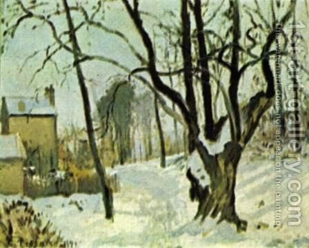Schnee in Louveciennes by Camille Pissarro - Reproduction Oil Painting