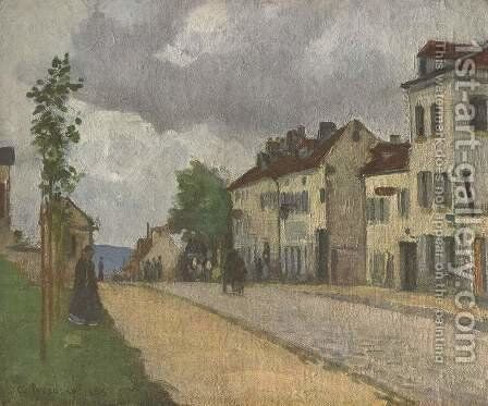 Street in Pontoise (Rue de Gisors) by Camille Pissarro - Reproduction Oil Painting