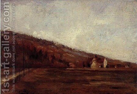 The Banks of Marne in Winter (Study) by Camille Pissarro - Reproduction Oil Painting