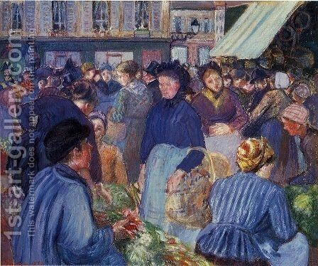 The Market at Gisors 1 by Camille Pissarro - Reproduction Oil Painting