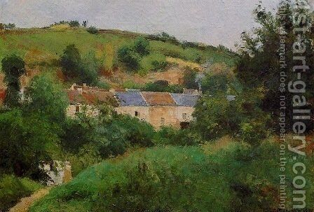 The Village Pathway by Camille Pissarro - Reproduction Oil Painting