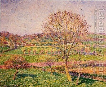Tree Tree at Eragny by Camille Pissarro - Reproduction Oil Painting