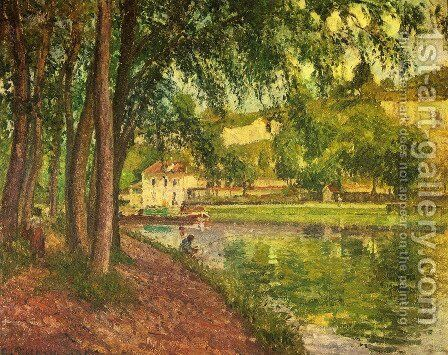 Treidelweg by Camille Pissarro - Reproduction Oil Painting
