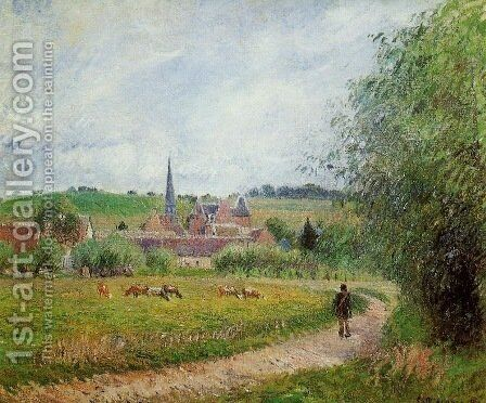 View of Eragny 1 by Camille Pissarro - Reproduction Oil Painting