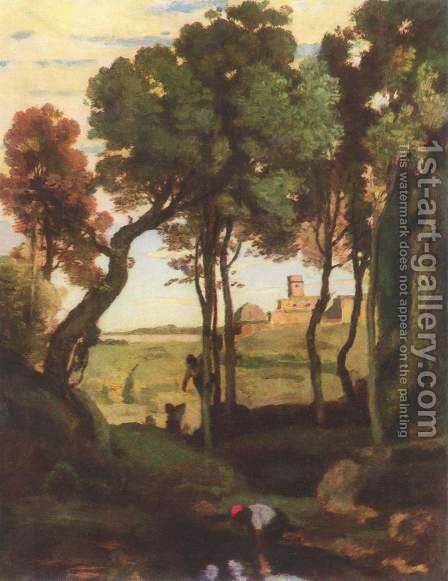 Castelgandolfo by Jean-Baptiste-Camille Corot - Reproduction Oil Painting