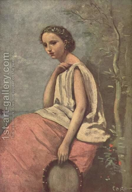 La Zingara by Jean-Baptiste-Camille Corot - Reproduction Oil Painting