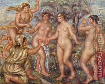 Judgement of Paris by Pierre Auguste Renoir - Reproduction Oil Painting