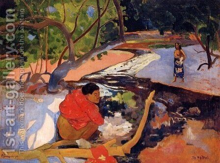 Te Poipoi by Paul Gauguin - Reproduction Oil Painting