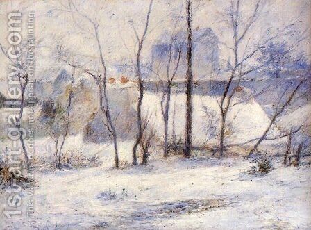 Winter Landscape, Effect of Snow by Paul Gauguin - Reproduction Oil Painting