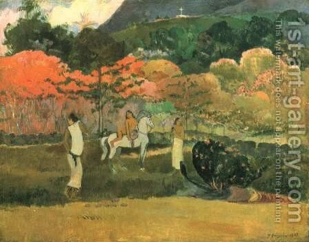 Women and mould (2) by Paul Gauguin - Reproduction Oil Painting
