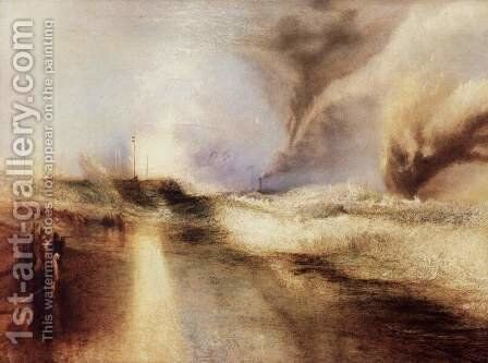 Flares with rough sea by Turner - Reproduction Oil Painting