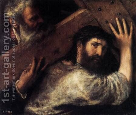 Christ Carrying the Cross 2 by Tiziano Vecellio (Titian) - Reproduction Oil Painting