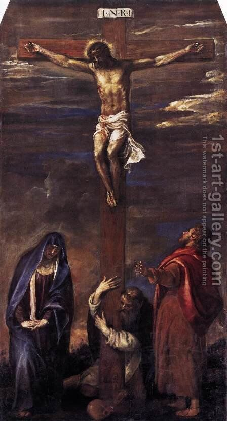 Crucifixion 2 by Tiziano Vecellio (Titian) - Reproduction Oil Painting
